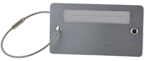 Write in Name Luggage Tag with Cable