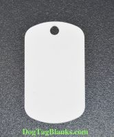 White Aluminum Dog Tag for UV or Screen Printing
